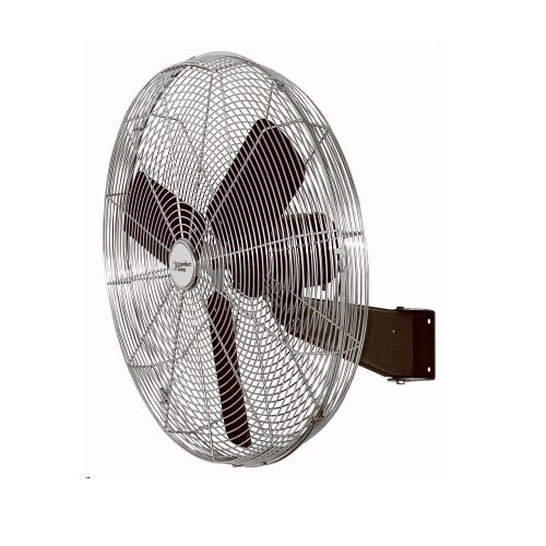 Brackets For Wall Mount Oscillating Fans : Quot high velocity oscillating wall mount fan all metal