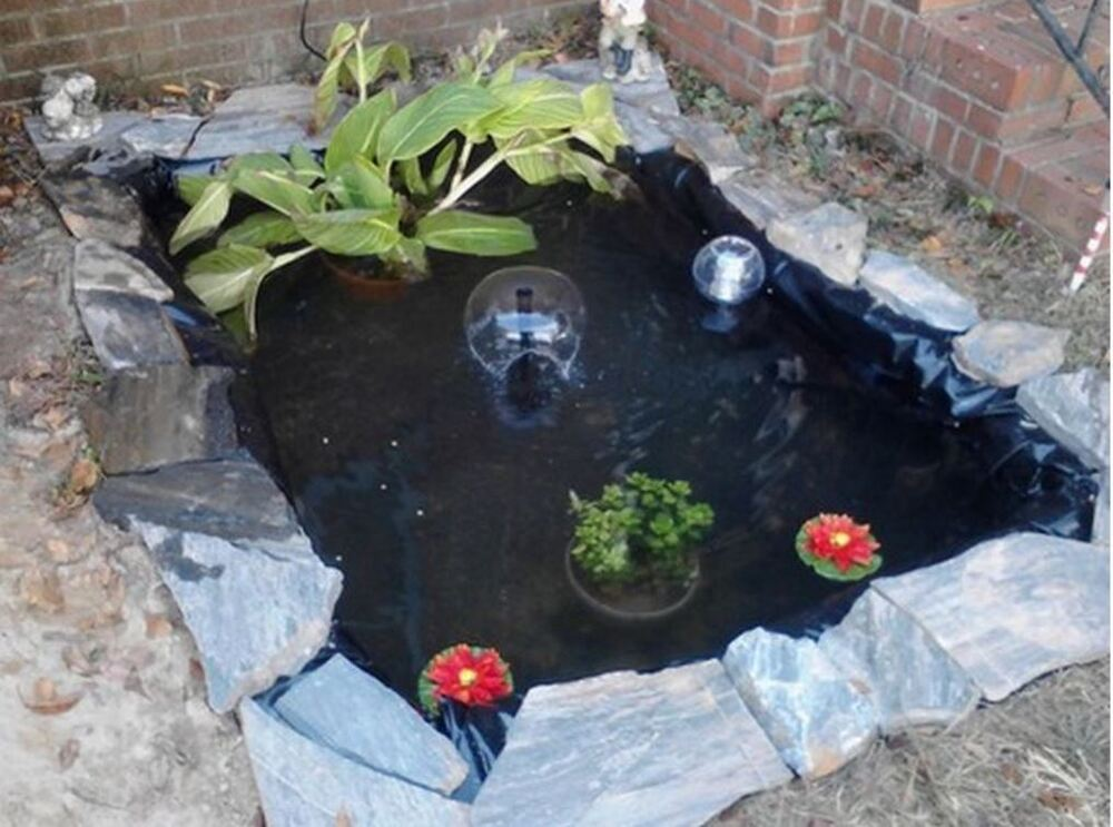 Backyard Pond Kit In Ground Water Liner Fish Garden Zen