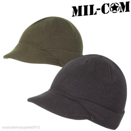 img-MIL-COM US ARMY JEEP HAT WW2 MASH REPRO MILITARY MENS BEANIE BLACK OLIVE GREEN