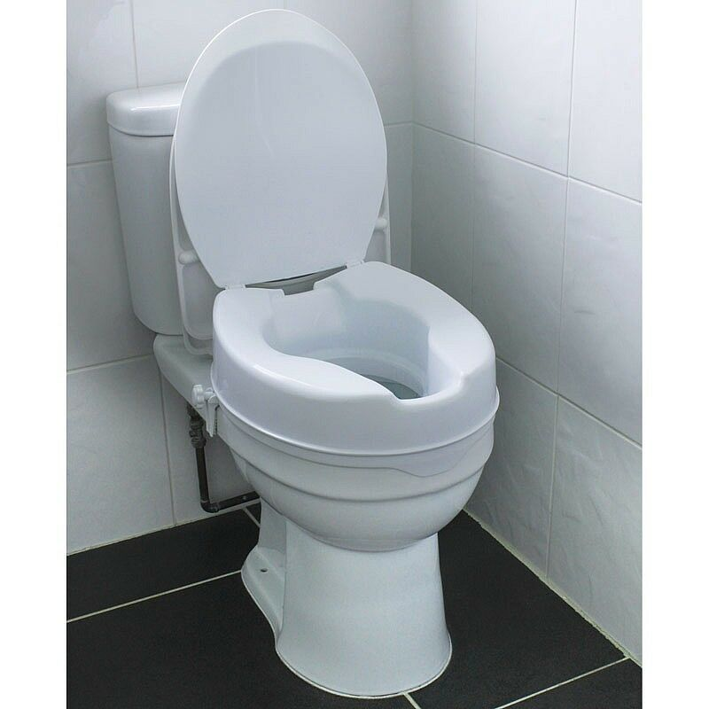 Universal Fitting Removable Raised Comfort Disability Bathroom Toilet Seat