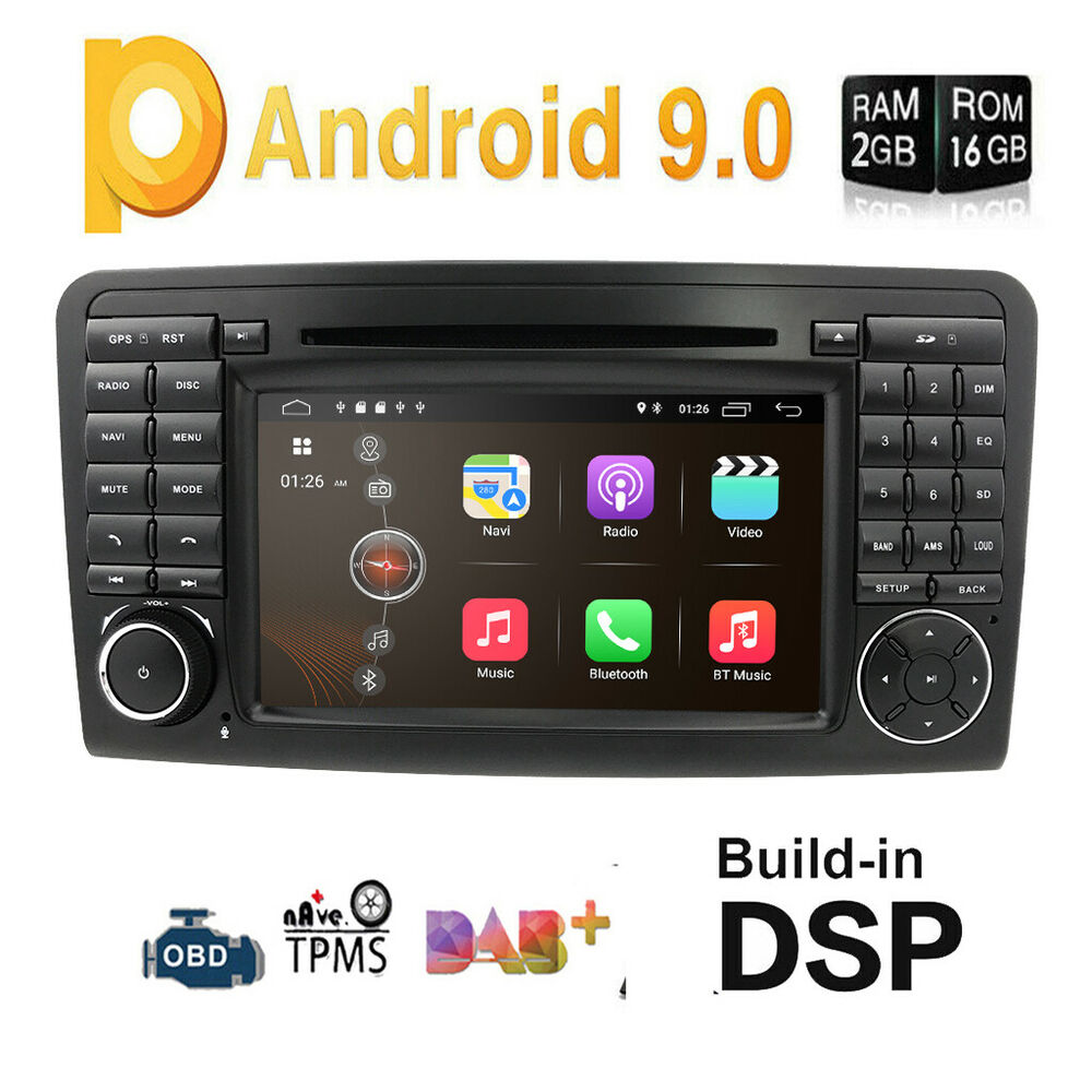 For mercedes benz ml320 ml350 gl320 gl350 car dvd radio for Mercedes benz stereo