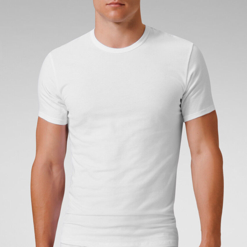 Mens cotton stretch crew neck short sleeve t shirt for Men slim fit shirts