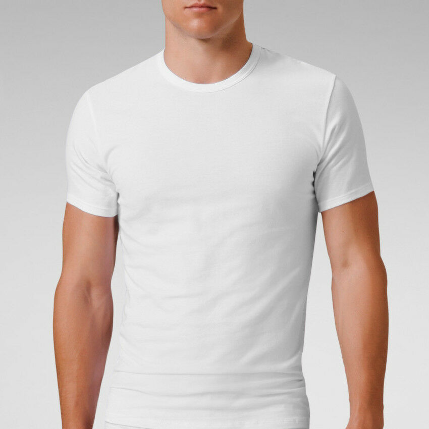 Mens cotton stretch crew neck short sleeve t shirt for Tahari t shirt mens
