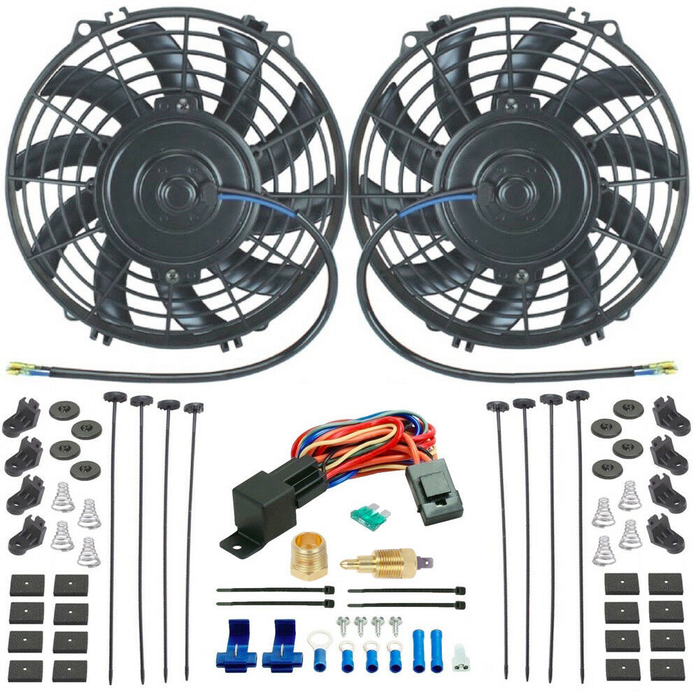 Dual 9 Quot Inch Electric Radiator Cooling Fans Amp 3 8 Quot Npt Fan