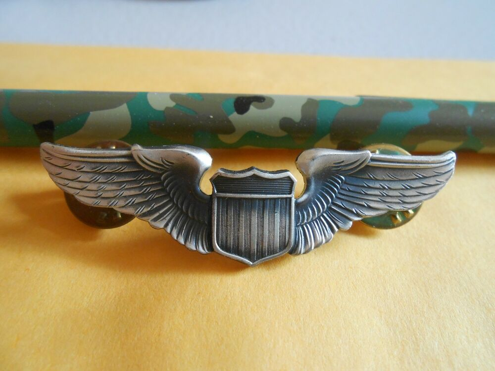 united states air force pilot wings badge by gi krew. Black Bedroom Furniture Sets. Home Design Ideas