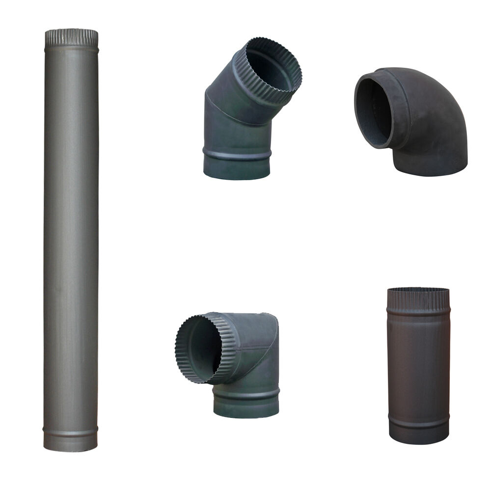 5 Quot 6 Quot Matt Black Chimney Flue Pipe For Wood Log Burning