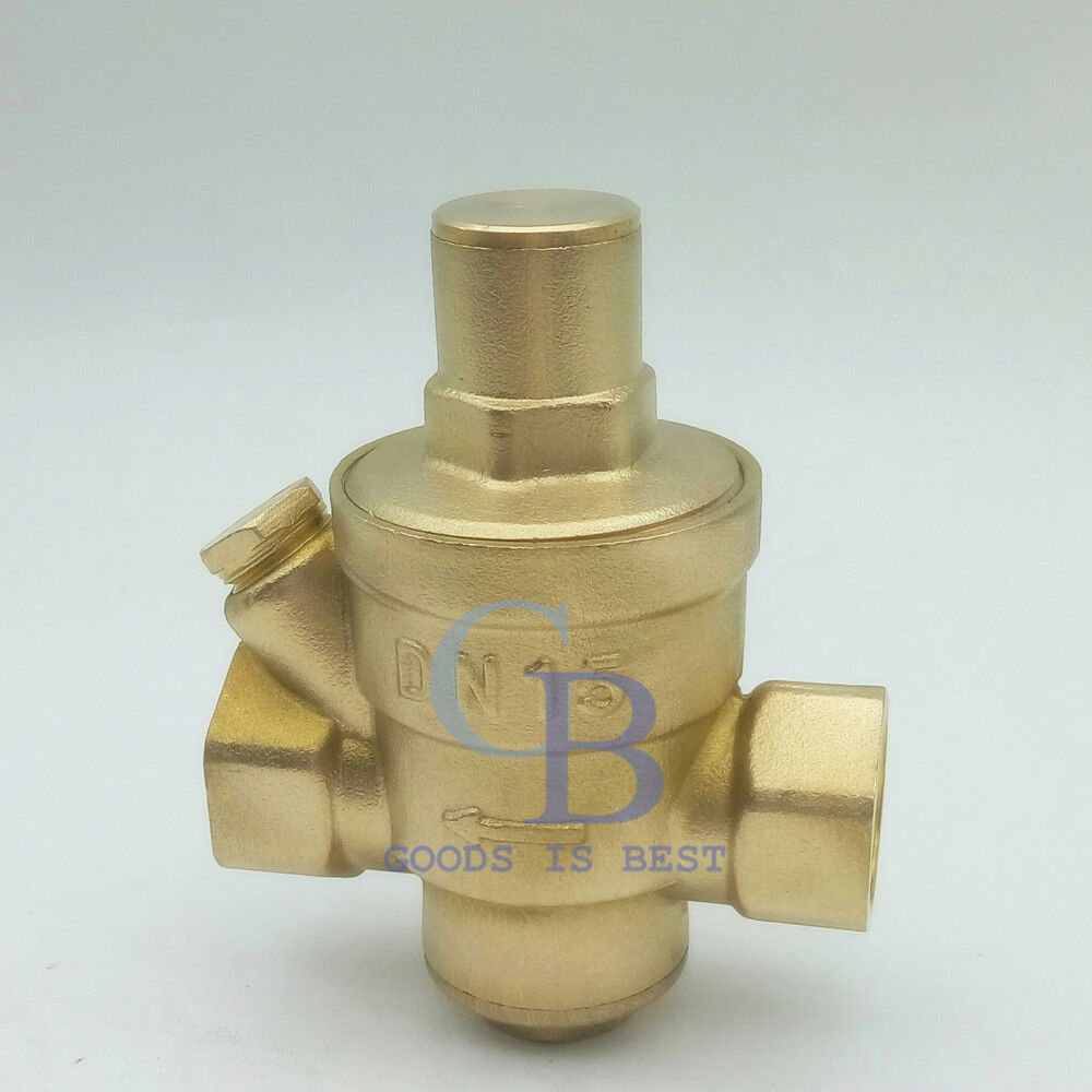 g1 2 dn15 brass adjustable water pressure regulator pressure maintaining valve ebay. Black Bedroom Furniture Sets. Home Design Ideas