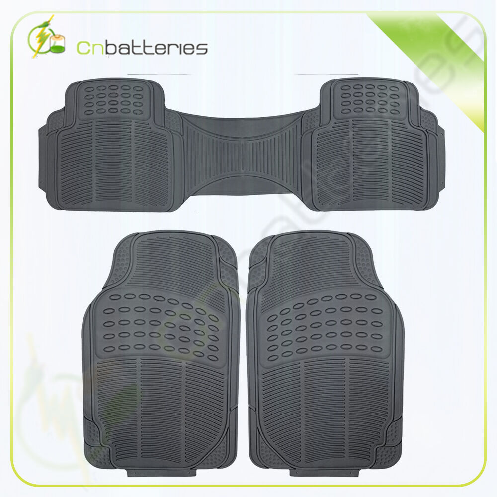 Rubber Floor Mat For Car Suv Hd All Weather Liner Black W