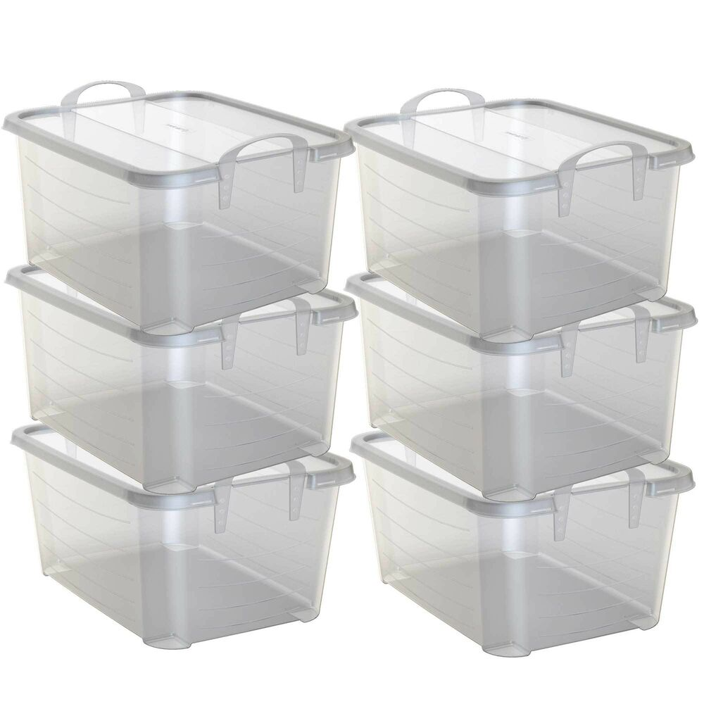 Life Story Clear Stackable Closet Amp Storage Box 55 Quart