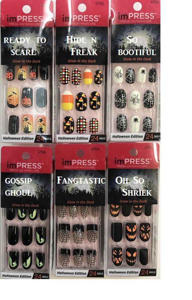KISS ImPRESS Press-On Manicure Glow In The Dark Halloween