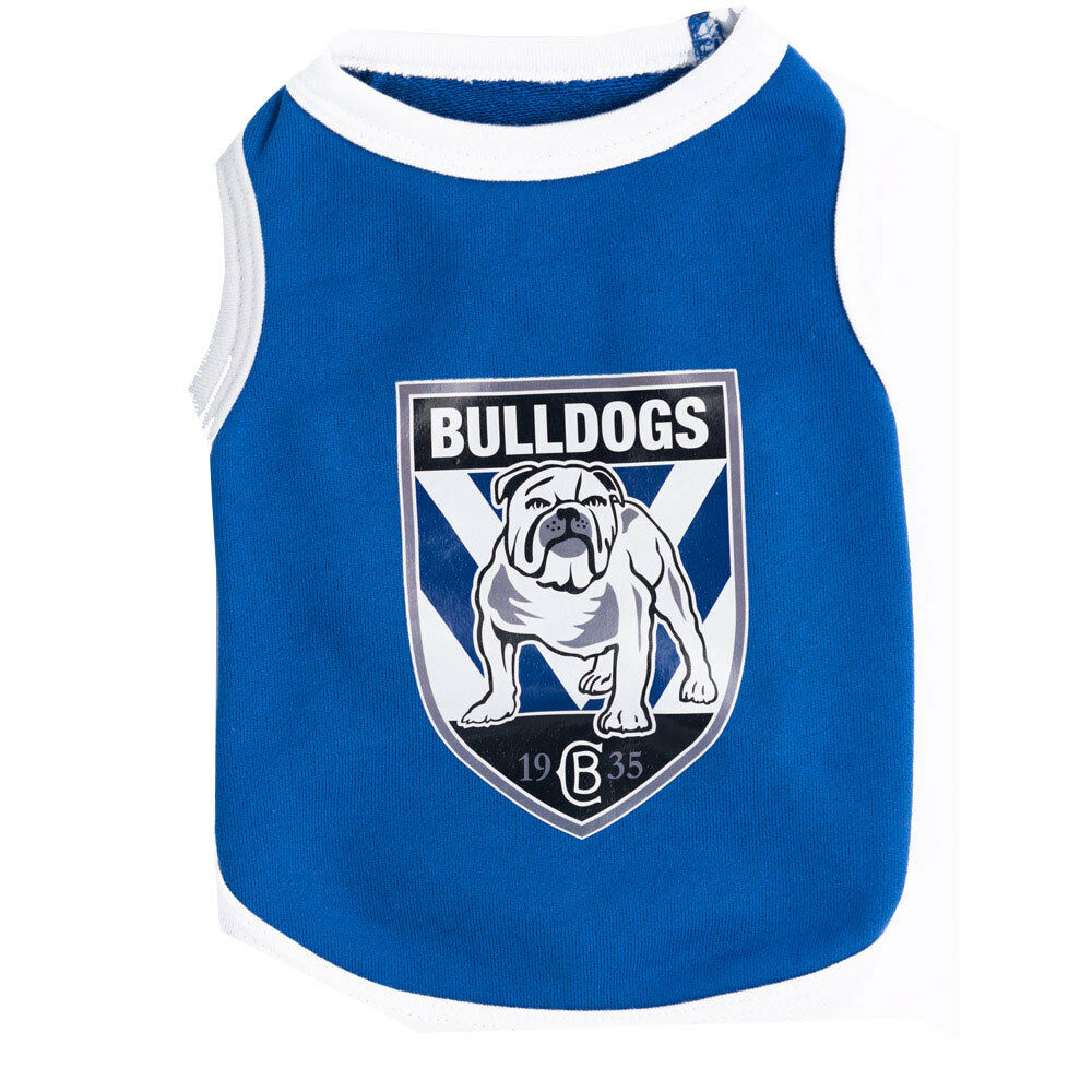 Canterbury Bulldogs Nrl Team Logo Pet Tank T Shirt Cat Or Dog