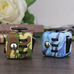 Camo Fiddle Fidget Cube Adult Kids EDU ADHD Anxiety Stress Relief Toy & Gift Box