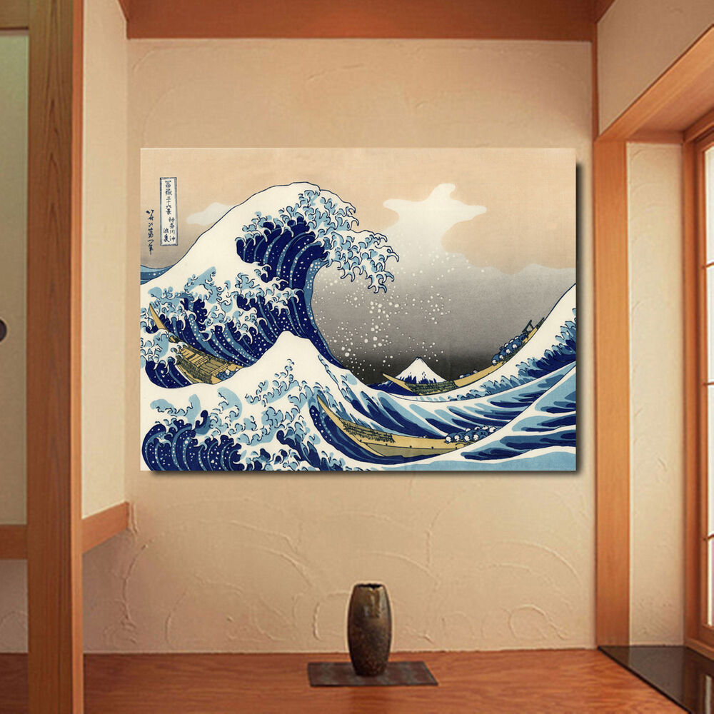 Jp Decor: The Great Wave Off Kanagawa Japanese Ukiyo-e Silk Fabric