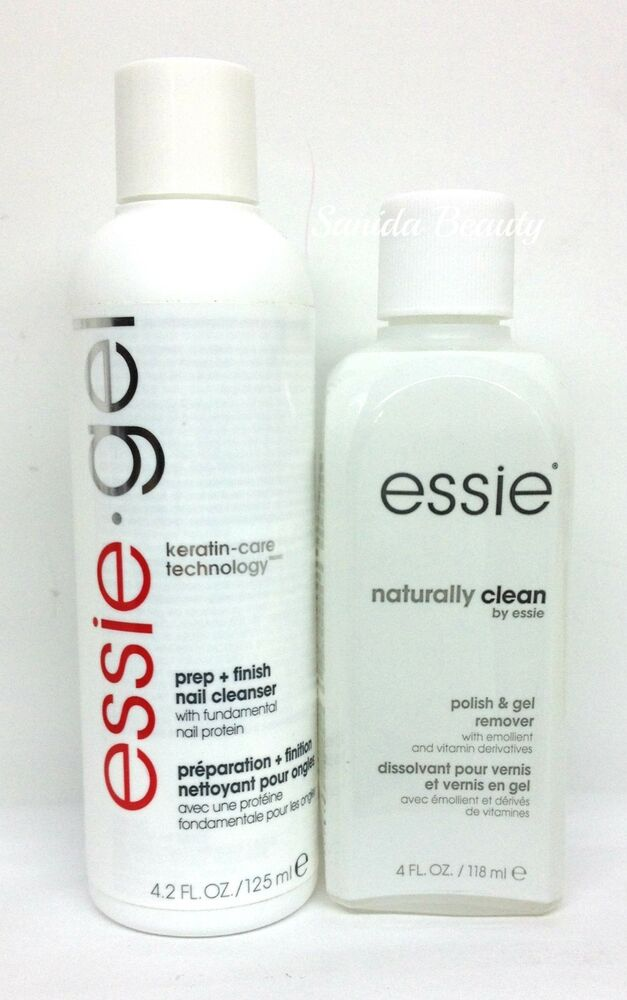 Essie GEL Prep+Finish Cleanser 4.2oz or Naturally Clean Remover 4oz ...