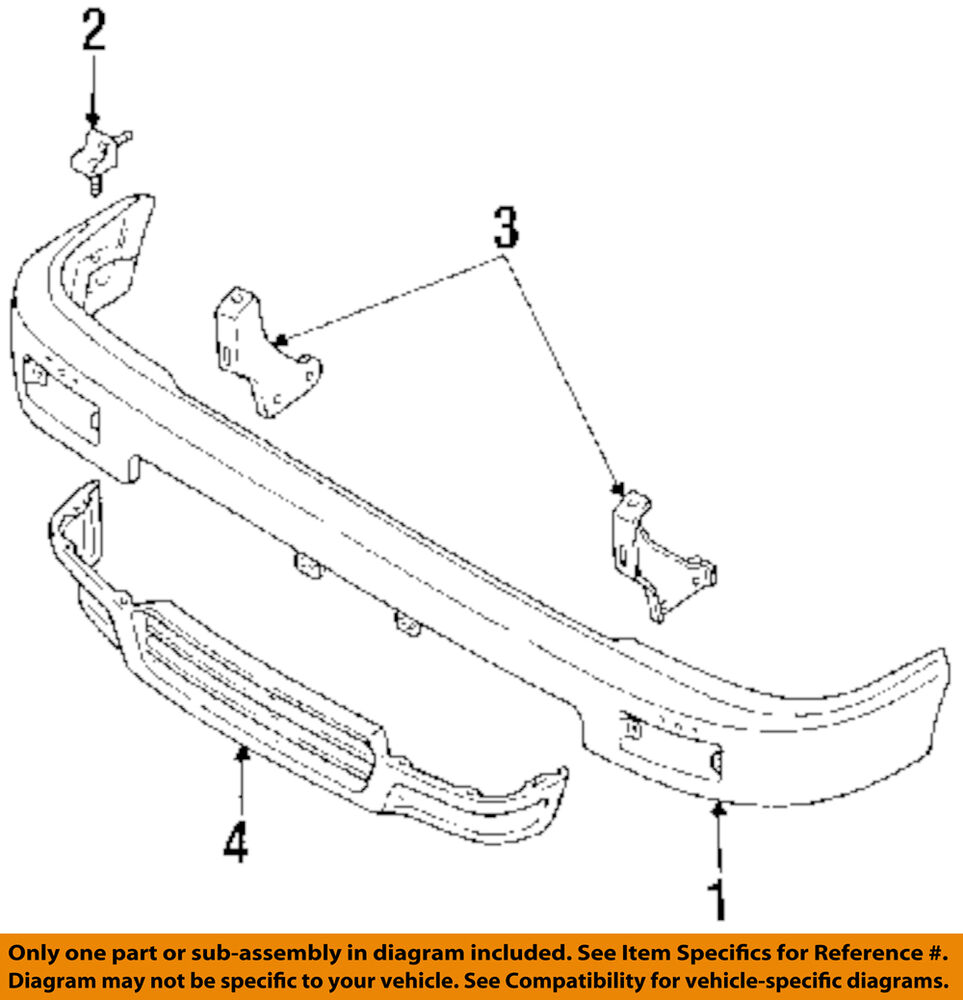 Toyota Oem 92 95 Pickup Bumper 5210135060 Ebay 1996 Jaguar Xj6 Headlight Diagram