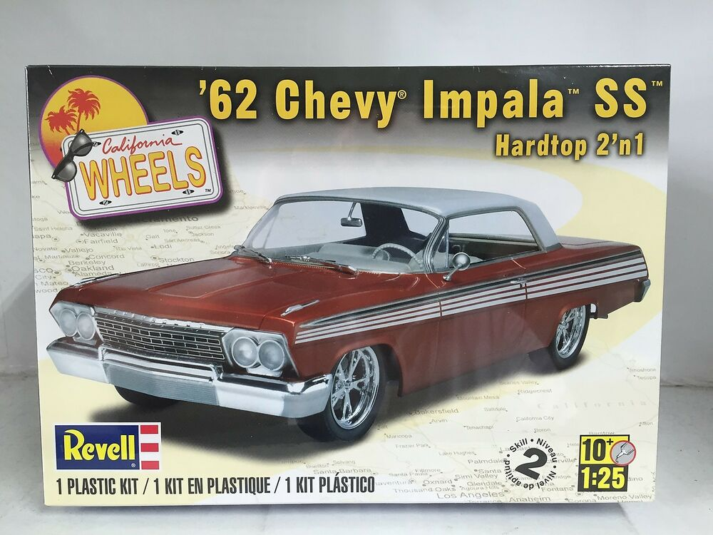 Revell US Monogram 1/25 \'62 Chevy® Impala™ SS™ Hardtop 2\'n 1 85-4281 ...