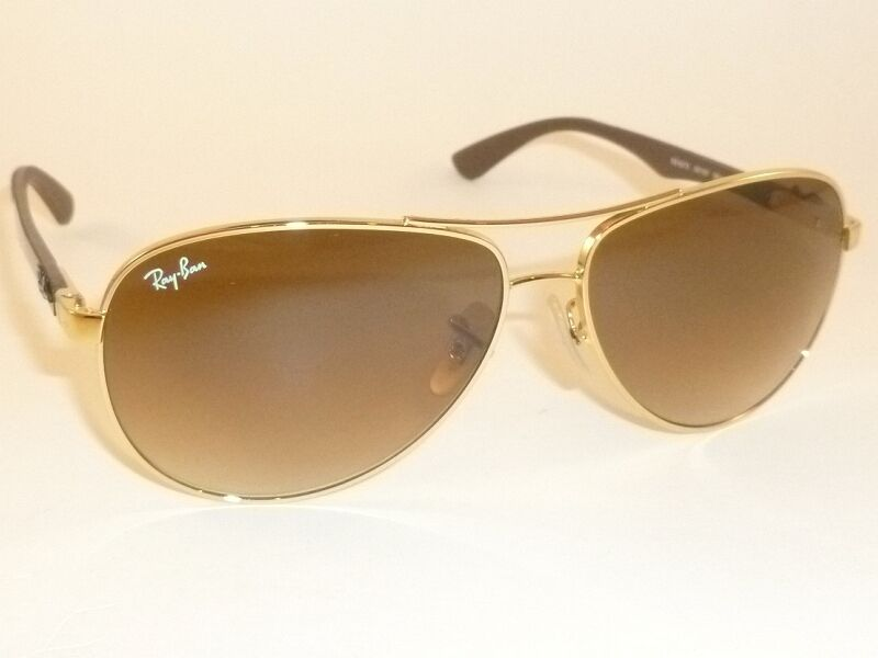 24d4c1e361e Details about New RAY BAN Sunglasses TECH Gold Frame RB 8313 001 51  Gradient Brown Lenses 58mm