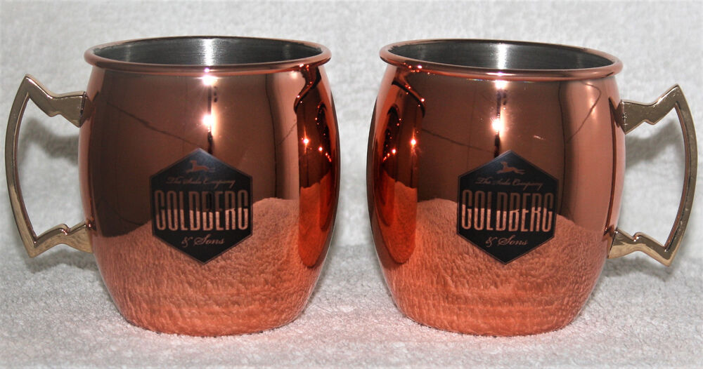 goldberg sons 2x kupferbecher copper mug tasse kupfer edel moscow mule neu ebay. Black Bedroom Furniture Sets. Home Design Ideas