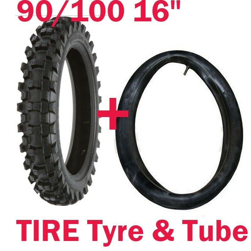 90 100 16 16 tire tyre tube rear dirt bike motorcycle for Tire tub