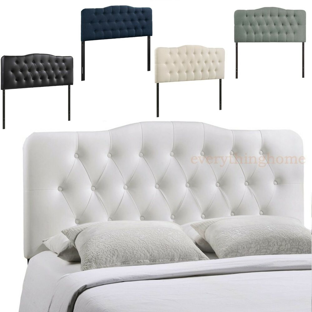 Modern Queen Arch Headboard Upholstered Button Tufted