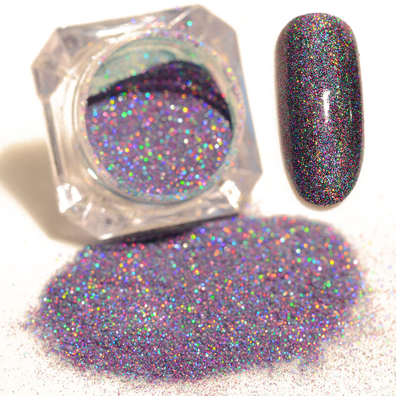 BORN PRETTY Mixed Starry Holographic Laser Powder Nail Art