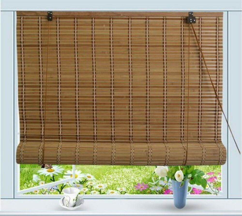 Bamboo Roll Up Window Blind Sun Shade W72 Quot X H72