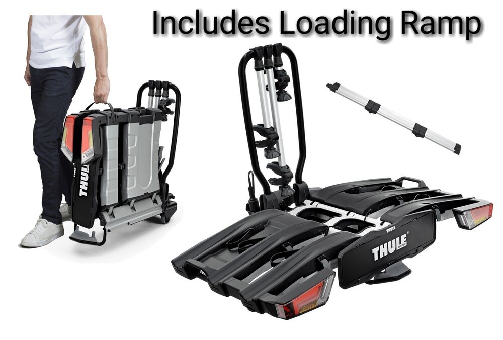 thule 934 easyfold 3 bike xt cycle carrier rack tow bar. Black Bedroom Furniture Sets. Home Design Ideas