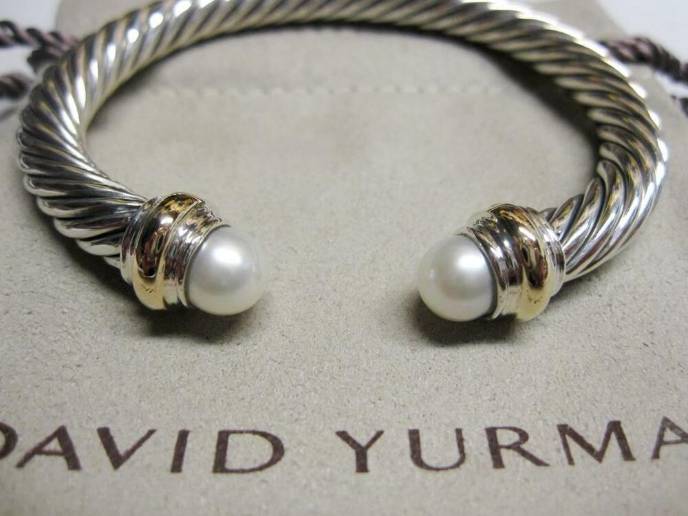 david yurman 7mm pearl cable bracelet with pouch free