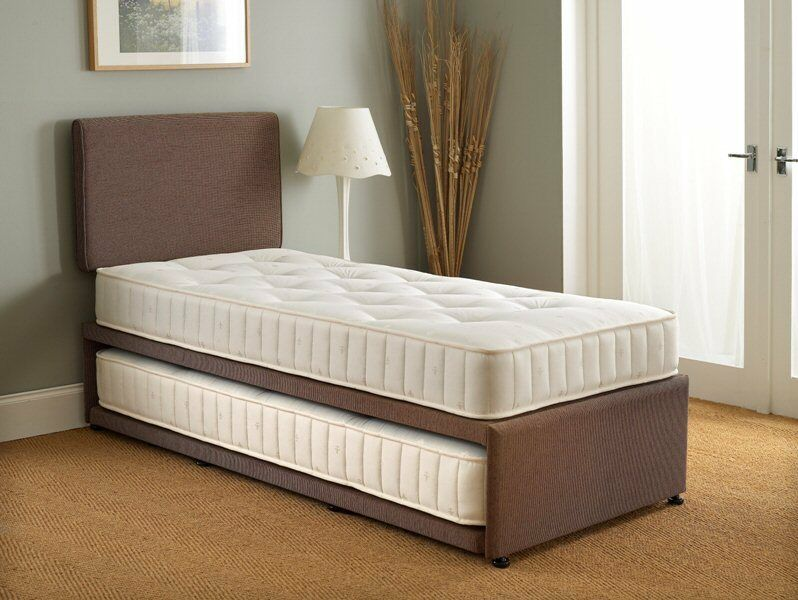 roll out bed 3ft single guest bed 3 in 1 with mattress pullout trundle 11163