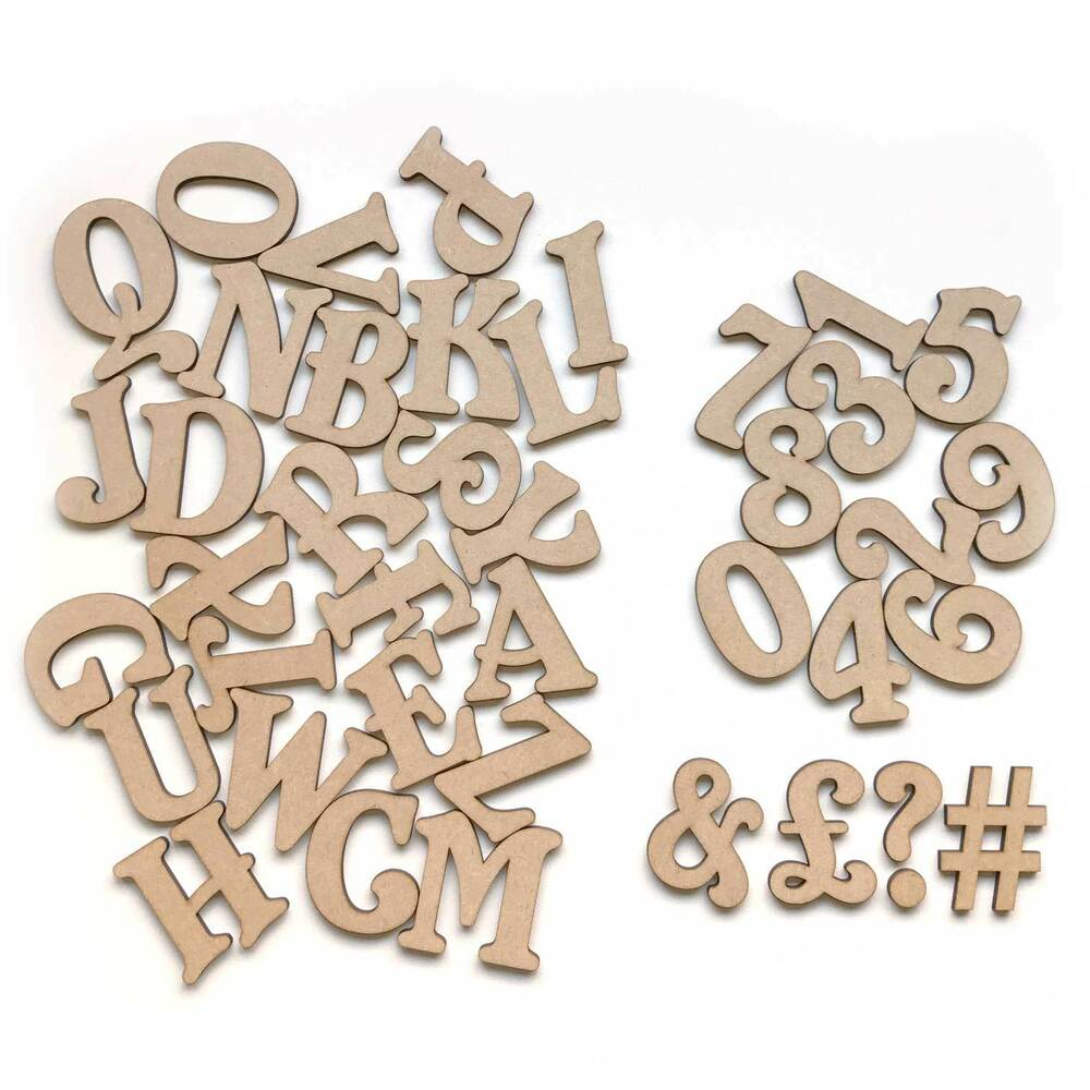 Mini small belshaw wooden mdf letters numbers alphabet for Small wooden numbers craft