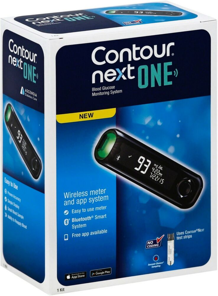 Contour Next One Blood Glucose Monitoring System 1 Ea Ebay