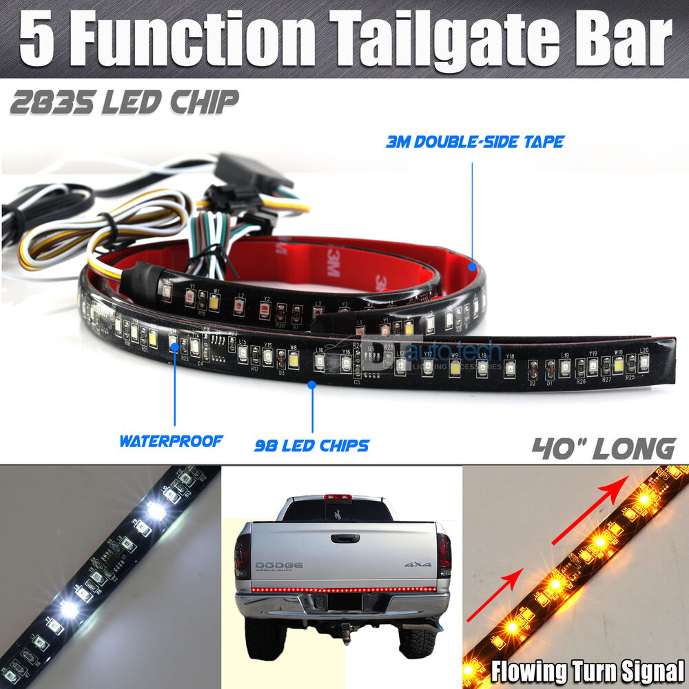 Sequential Flowing Signal Light LED Strip Tailgate Bar