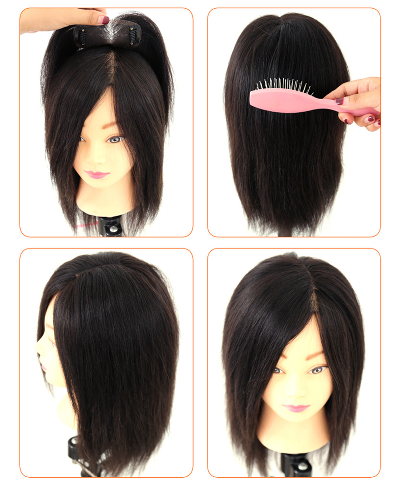 "Wholesale 8"" Real Human Hair Top Pieces Clip in Toppers ..."