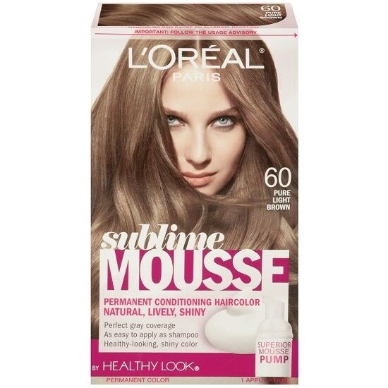 l 39 oreal healthy look sublime mousse hair color 60 pure light brown 71249197189 ebay