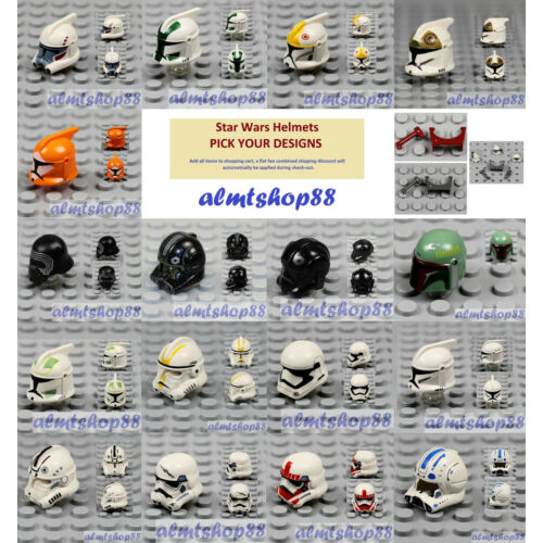 LEGO Star Wars - PICK YOUR HELMET STYLE - Storm Shock Clone Trooper Minifigure