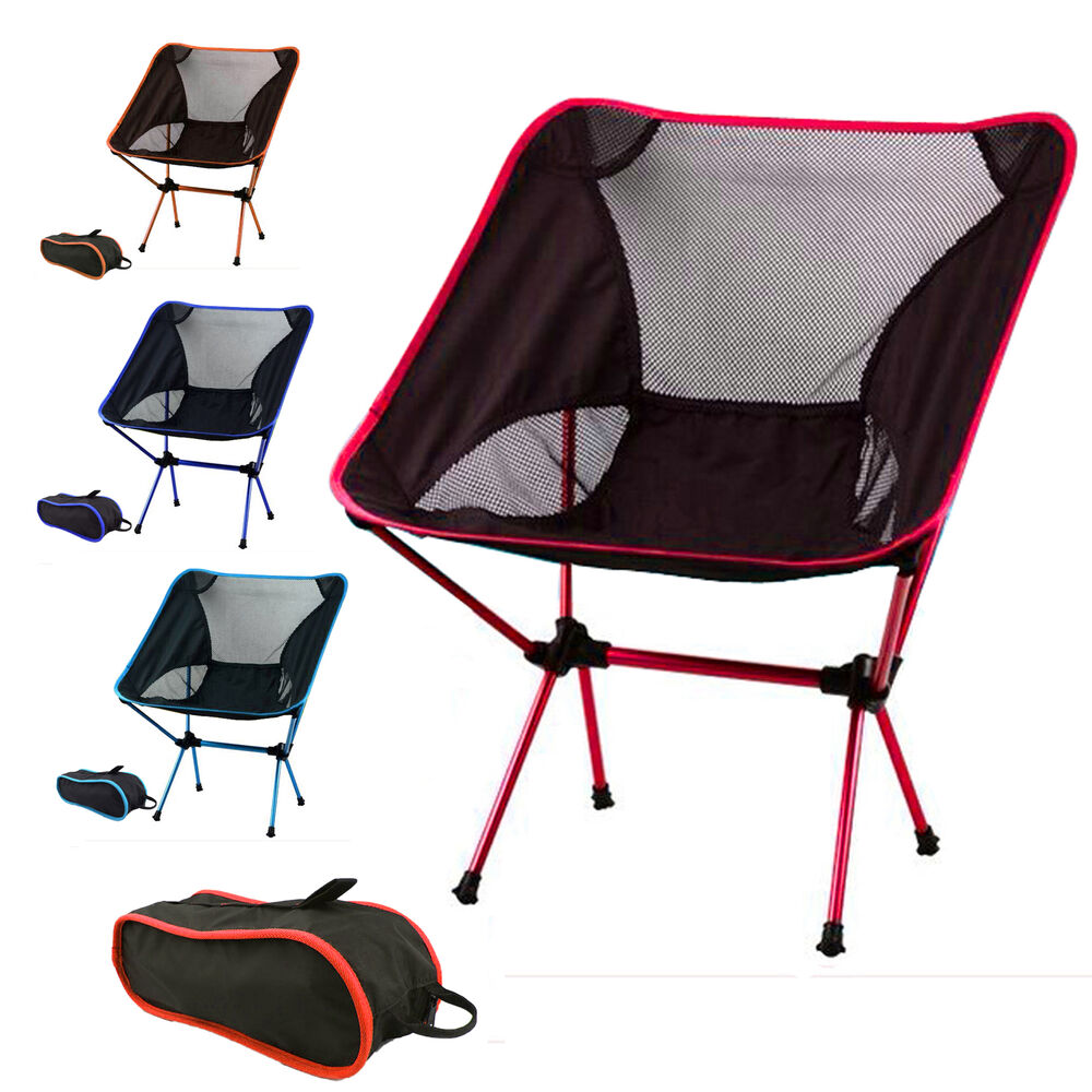portable lightweight foldable camping chair outdoor hiking. Black Bedroom Furniture Sets. Home Design Ideas