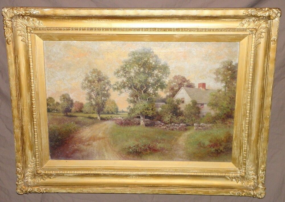 Antique Milton H Lowell Oil Painting Framed 30 Quot X 40 Quot Signed Ebay