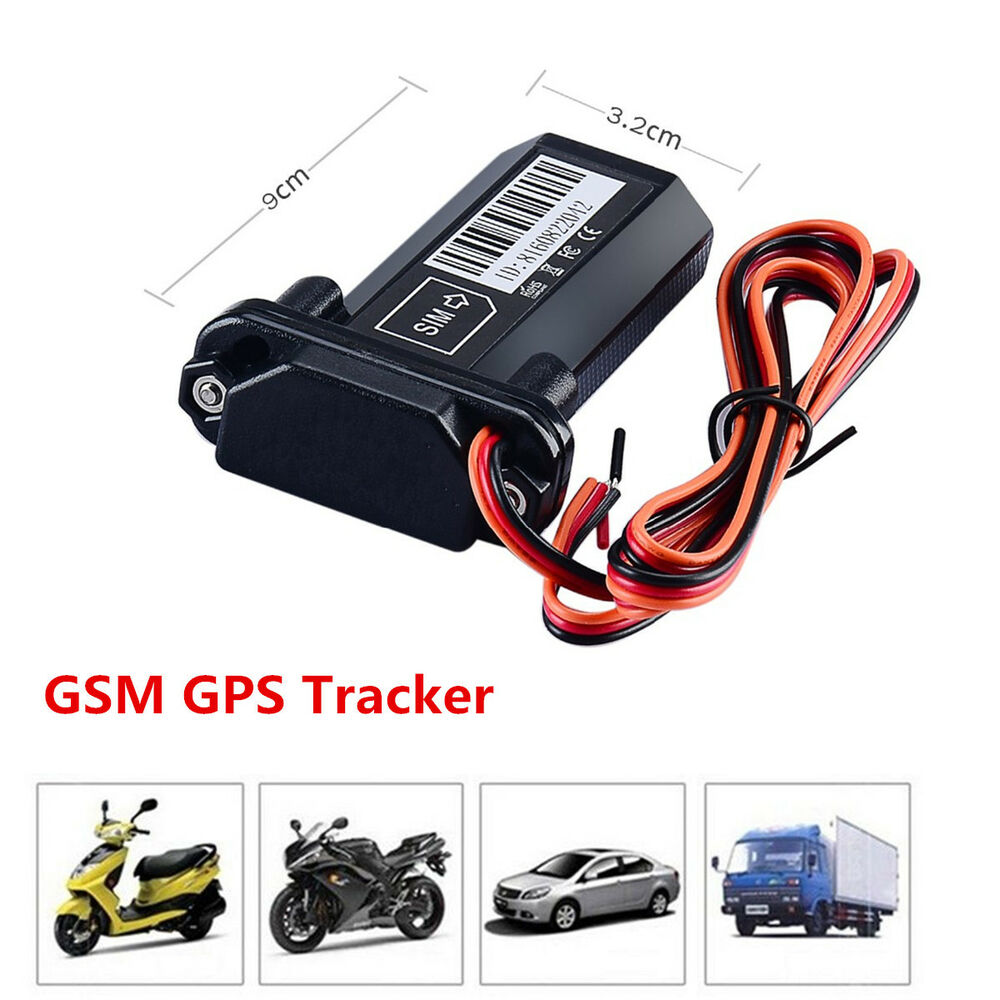 car vehicle motorcycle gsm gps tracker locator global real. Black Bedroom Furniture Sets. Home Design Ideas