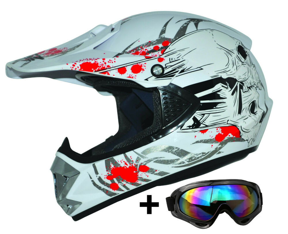 kids pro wei xs kinder motorradhelm brille ato cross helm mx crossbrille enduro ebay. Black Bedroom Furniture Sets. Home Design Ideas