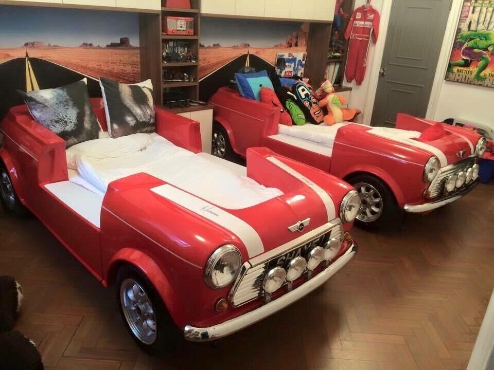 childs dream bed made from a mini cooper drive n dream bespoke car bed topgear ebay. Black Bedroom Furniture Sets. Home Design Ideas