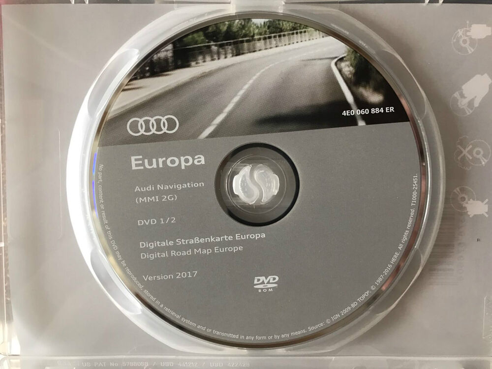 genuine audi 2017 mmi 2g sat nav map disc dvd1 west a4. Black Bedroom Furniture Sets. Home Design Ideas