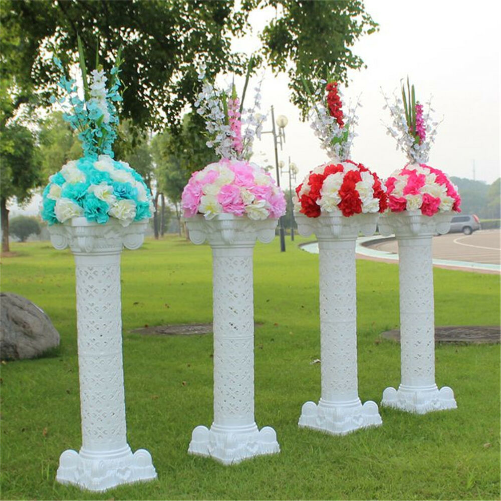 decorative columns for weddings 2 8 pack 40 quot plastic pillars column pvc cake flower 3452