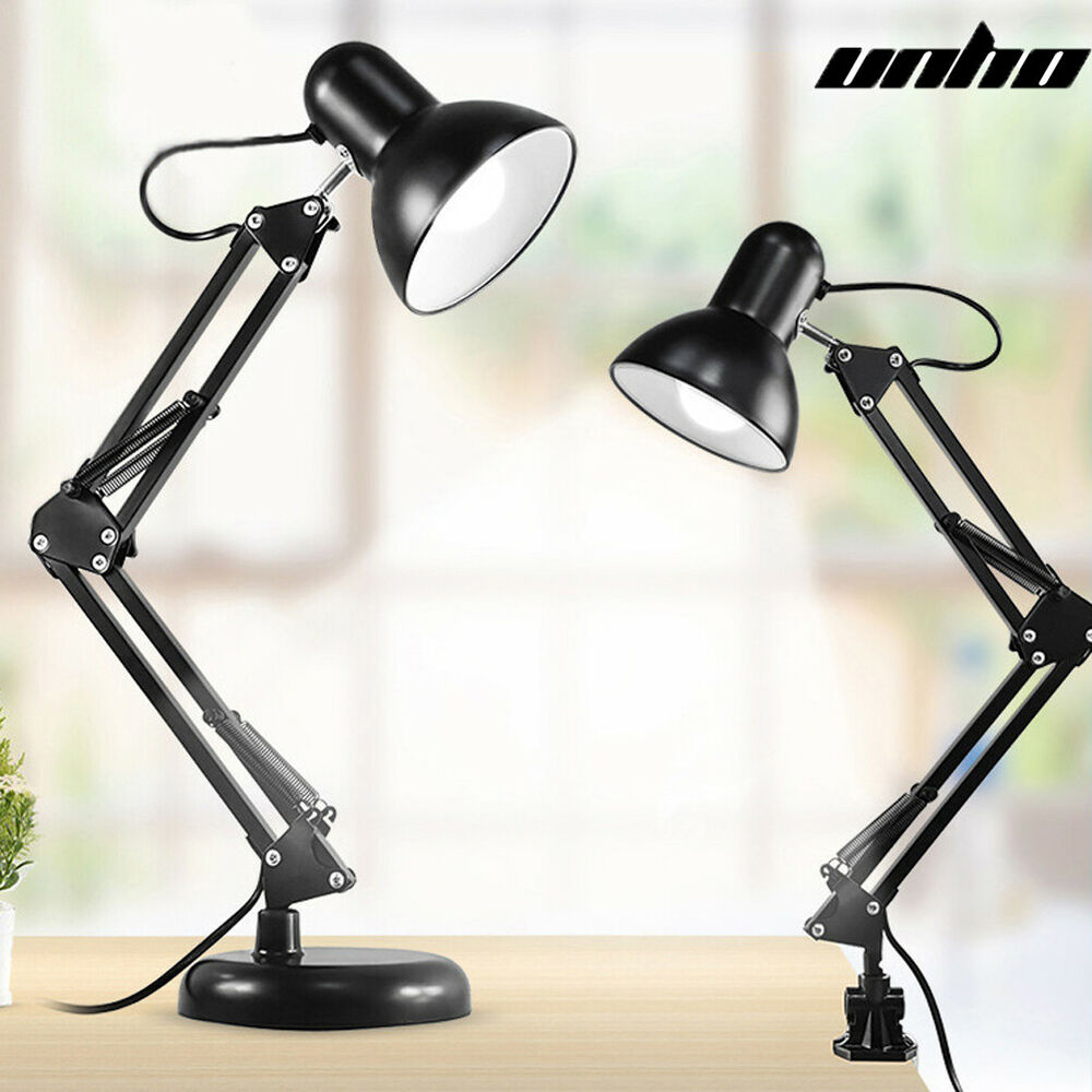 adjustable architect swing arm led desk lamp light base clamp mount e27 bulb ebay. Black Bedroom Furniture Sets. Home Design Ideas