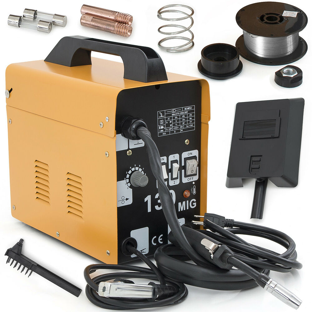 MIG-130 Flux Core Wire Welder Welding Machine Automatic Feed Unit ...