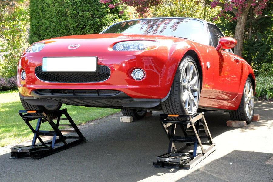 Diy car lift ramps
