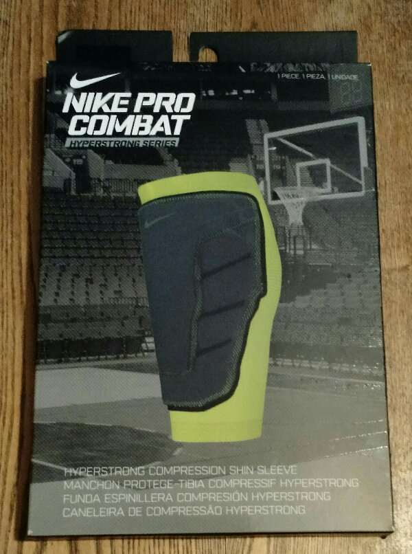 c649a49637 Details about Nike Pro Combat Hyperstrong Compression Shin Sleeve NEW Size  Large Basketball