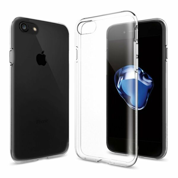 COVER PER IPHONE SE 2020 8/7/7 PLUS APPLE TRASPARENTE MORBIDA CUSTODIA TPU SLIM