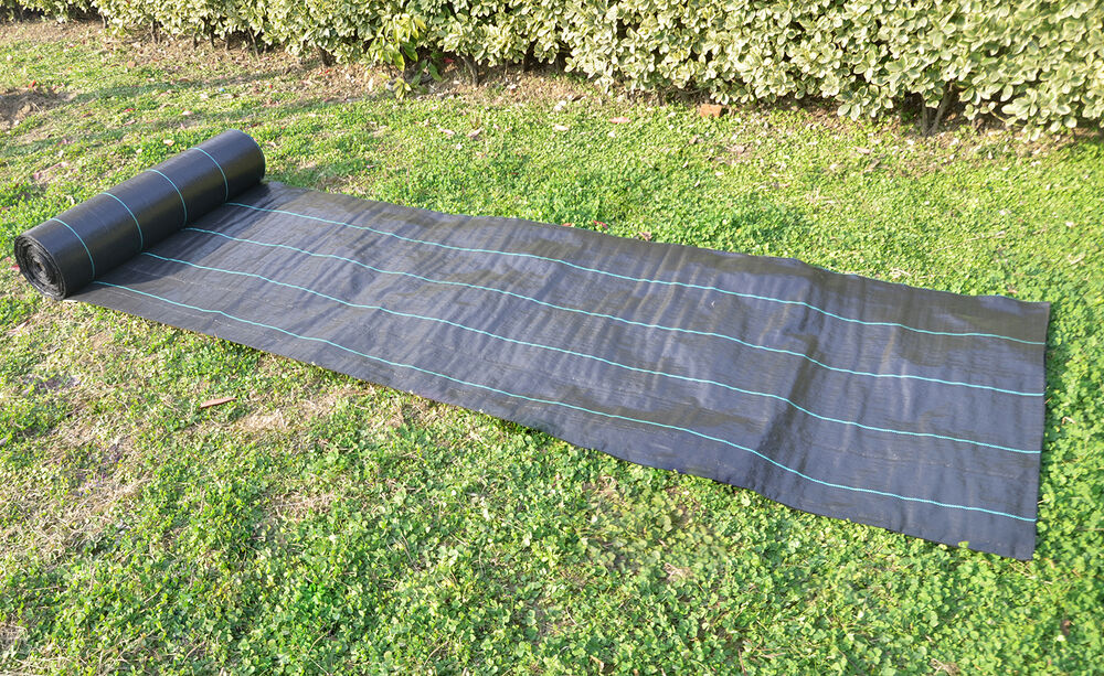 20 year landscape weed barrier weed barrier block fabric ground cover ebay. Black Bedroom Furniture Sets. Home Design Ideas