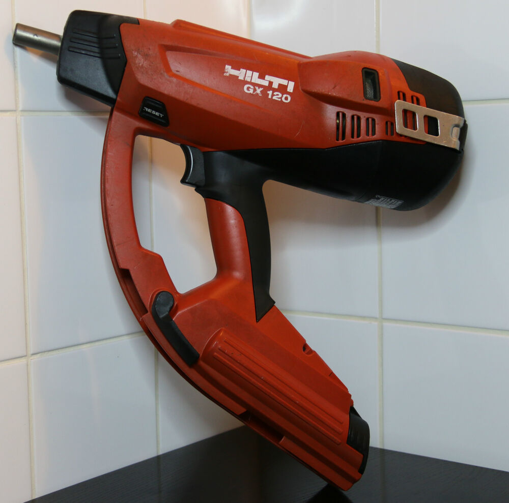 hilti gx 120 gx120 gasnagler gasbetriebenes setzger t betonnagler nail gun faste ebay. Black Bedroom Furniture Sets. Home Design Ideas