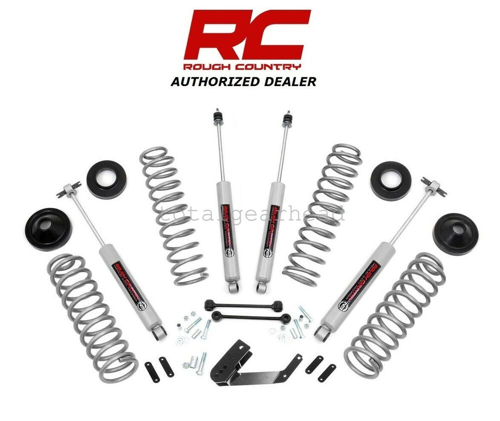 "Jeep Renegade With Lift >> 2007-2017 Jeep JK Wrangler 4-Door 4WD 3.25"" Rough Country Lift Kit [PERF694] 